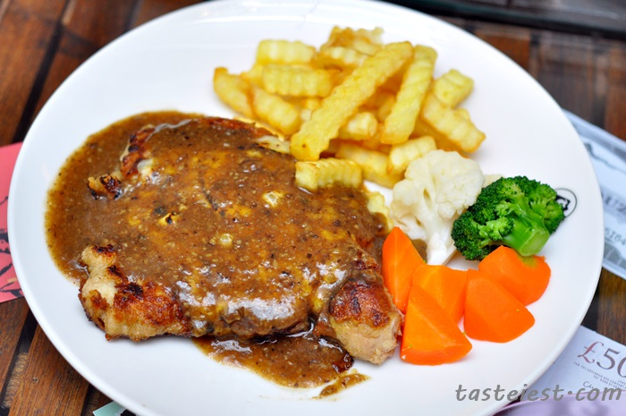 Baked cheese chicken with mushroom sauce